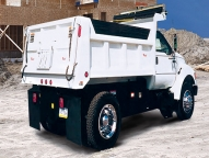 Rugby's Titan dump body with an 8 gauge floor and 10 gauge sides was designed for the mid-duty class 5-7 chassis.