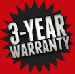 Rugby 3-Year Warranty